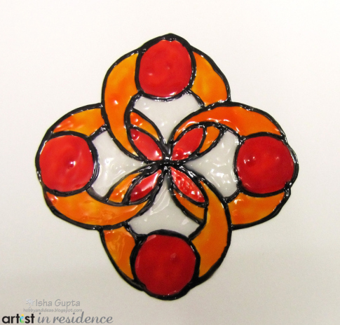 Creating Stained Glass Effects with StazOn Studio Glaze Orange and Red