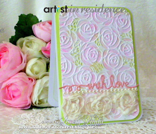Embossed Watercolor Roses with Memento Ink