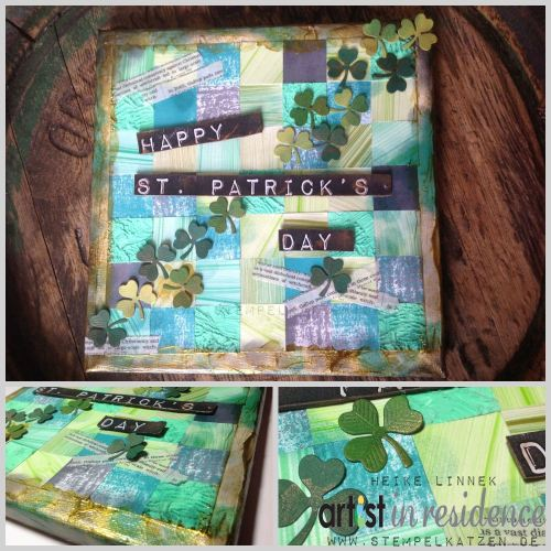St. Patricks Day Canvas with StazOn Ink