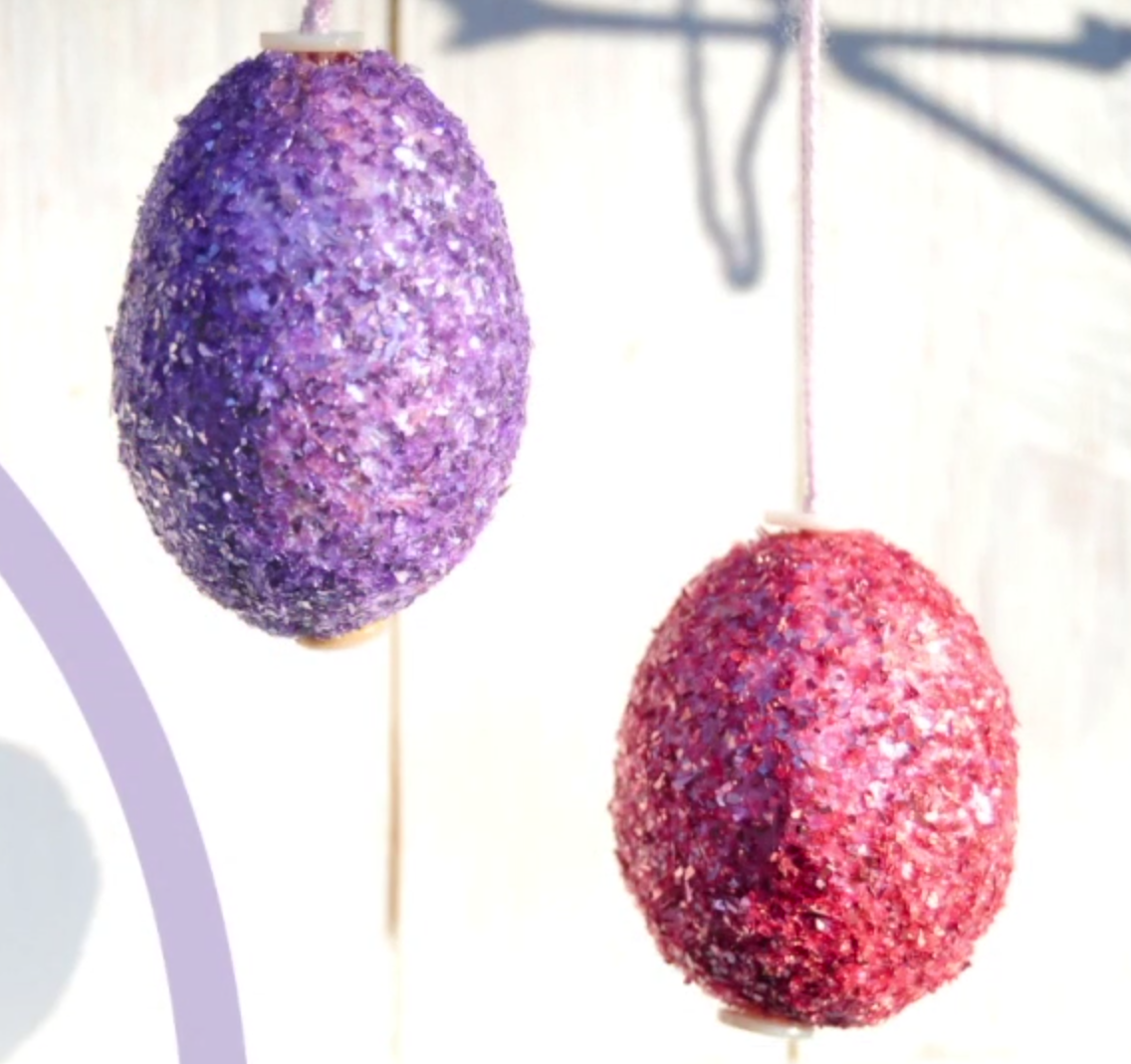 Glitter Easter Eggs with Creative Medium
