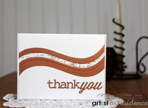 Copper Metallic Ink THANK YOU Card