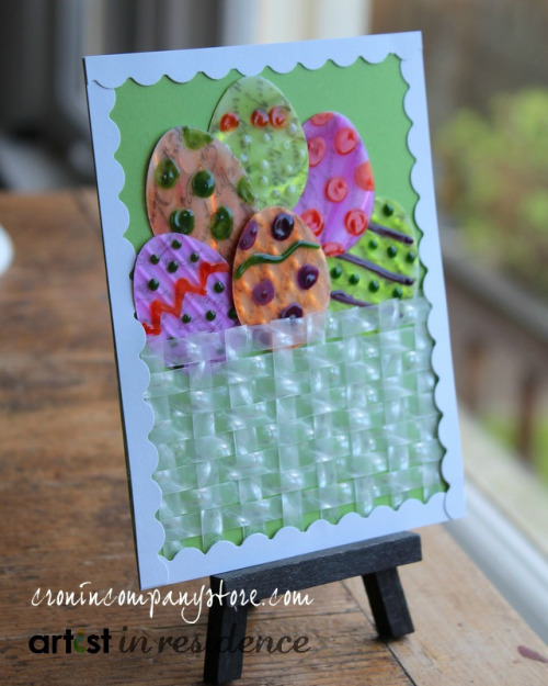 Easter Egg Hunt Greeting Card using StazOn ink