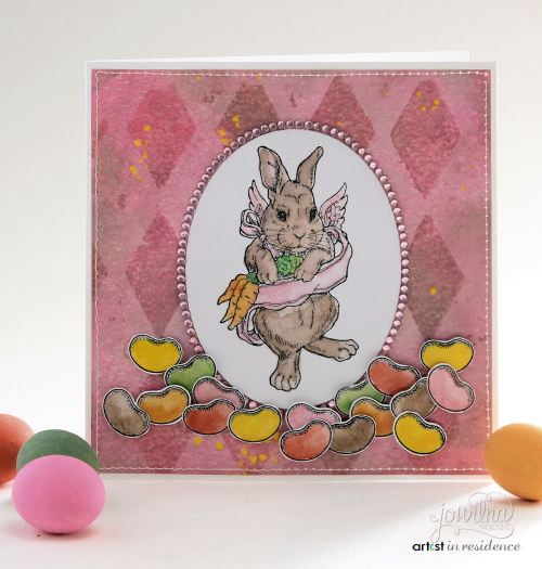 irRESISTible Jelly Bean and Easter Bunny Card