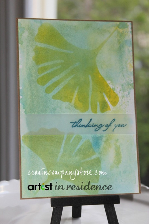 Memento Luxe Monoprinted Watercolor Backgrounds