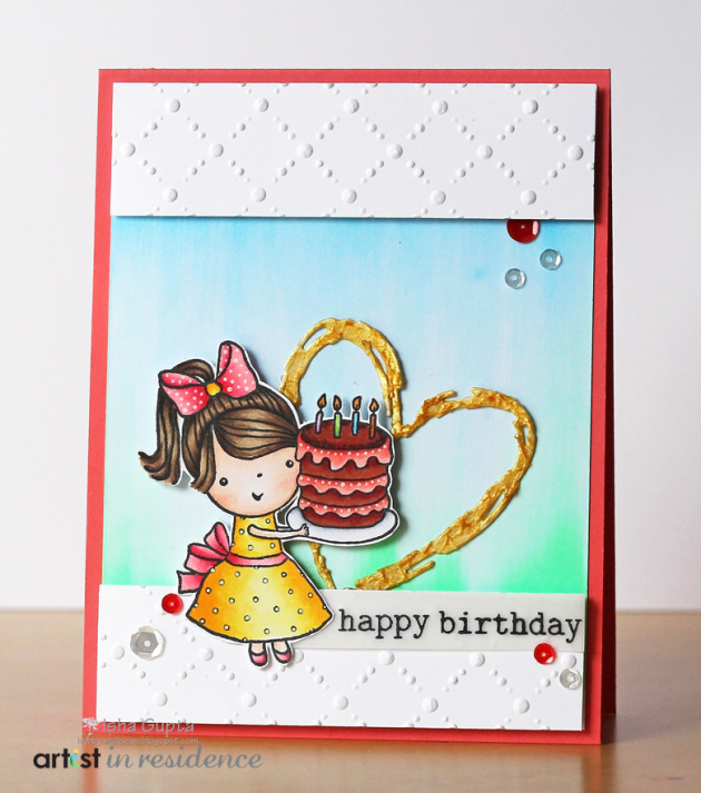 Birthday card tutorial featuring three different tools that make an extra wow factor