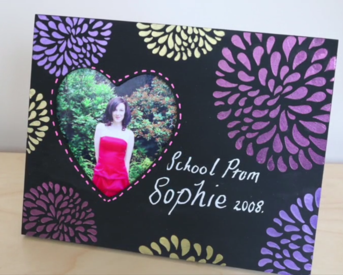 Chalkboard Picture Frame with Bright Accents