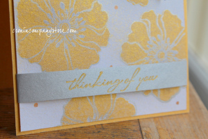 Delicata Metallic Ink for Thinking of You Card