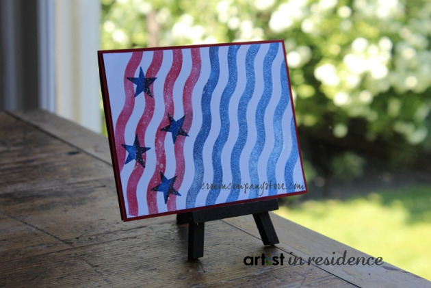 Memento Luxe for Modern Stars and Stripes Card