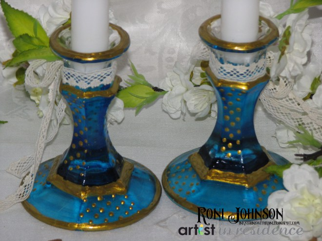 Two Become One - Wedding Decor Candle Sticks