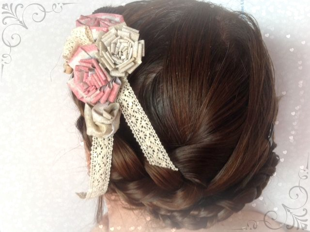 All-Purpose Ink for a Custom Vintage Bridal Hair Clip