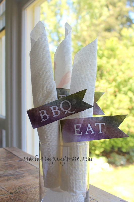 BBQ Settings Papercraft Banners