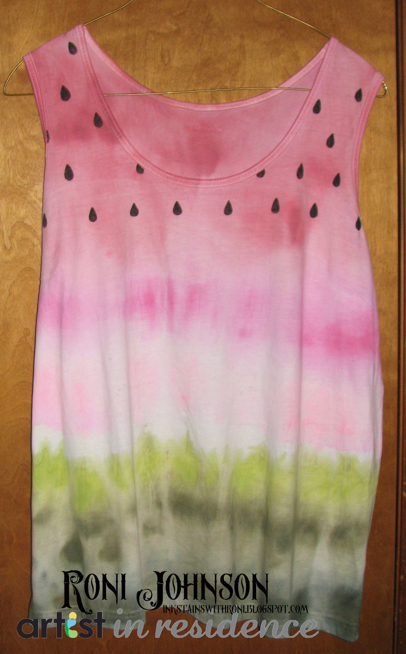 Juicy Watermelon Tank Top Fabric Project