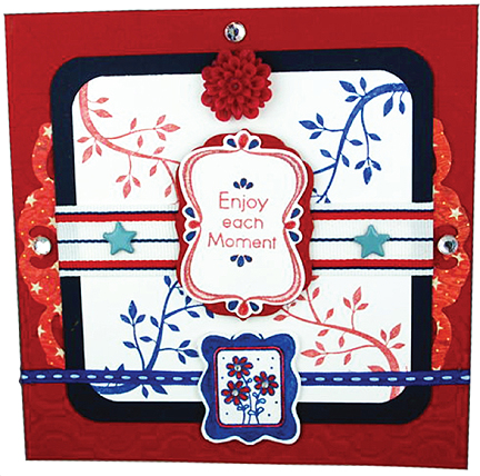 Enjoy Each Moment Fourth of July Theme Card