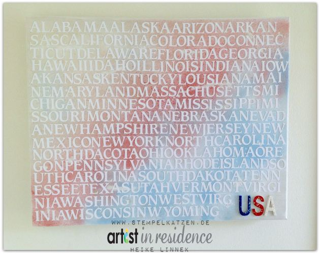 50 States on Canvas