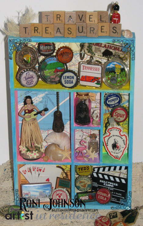 Travel Treasure Shadow Box with Radiant Neon Ink