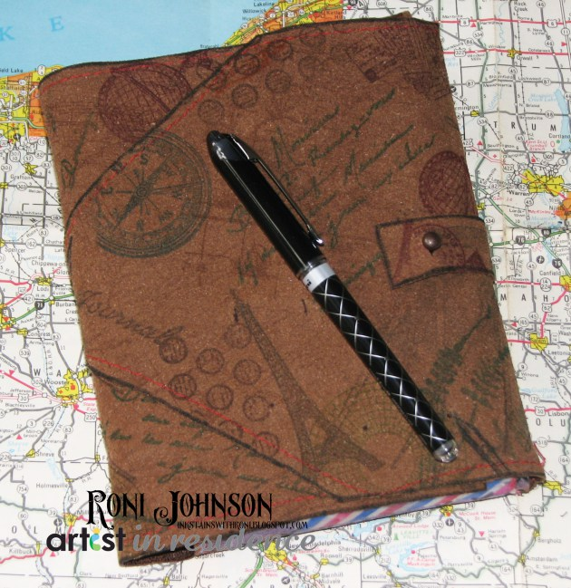 StazOn and Fabrico Suede Travel Journal Cover