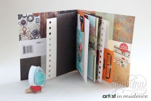 See how to make a travel journal project with VersaMagic ink