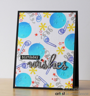 Birthday Wishes Card with a Bright Blue Party Theme
