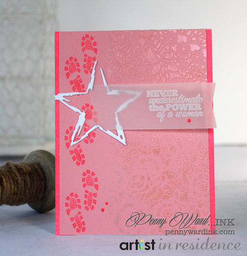 Girl Power Pink Card