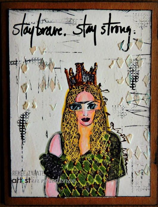 Memento Markers for a Stay brave. Stay strong Art Card