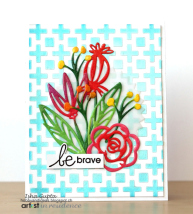 Be Brave Iridescent Background Encouragement Card