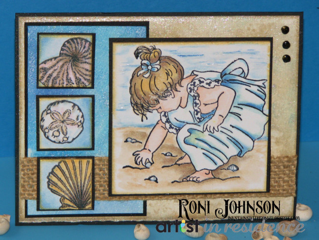 Tear It! Tape to Make a Seashells by the Seashore Card