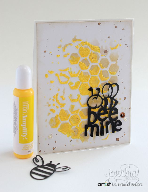 Amplify Bee Mine! Greeting Card in Bright Yellow