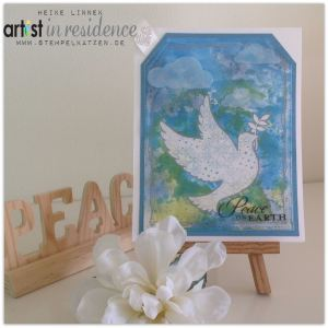 Peace on Earth Card with Embossed Resist Technique