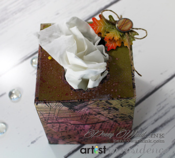 Fall Tissue Box