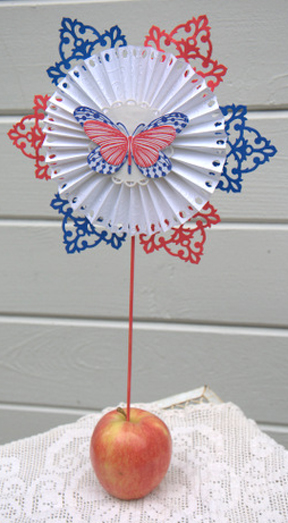 Freedom Fourth of July Butterfly Starburst Medallion