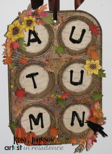 Upcycled Autumn Wall Hanging