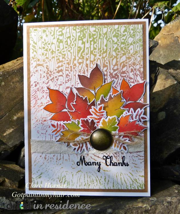 Many Thanks - Fall Leaves Thanksgiving Card
