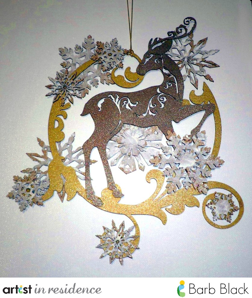 Dazzling Brilliance Reindeer Wreath for the Holidays