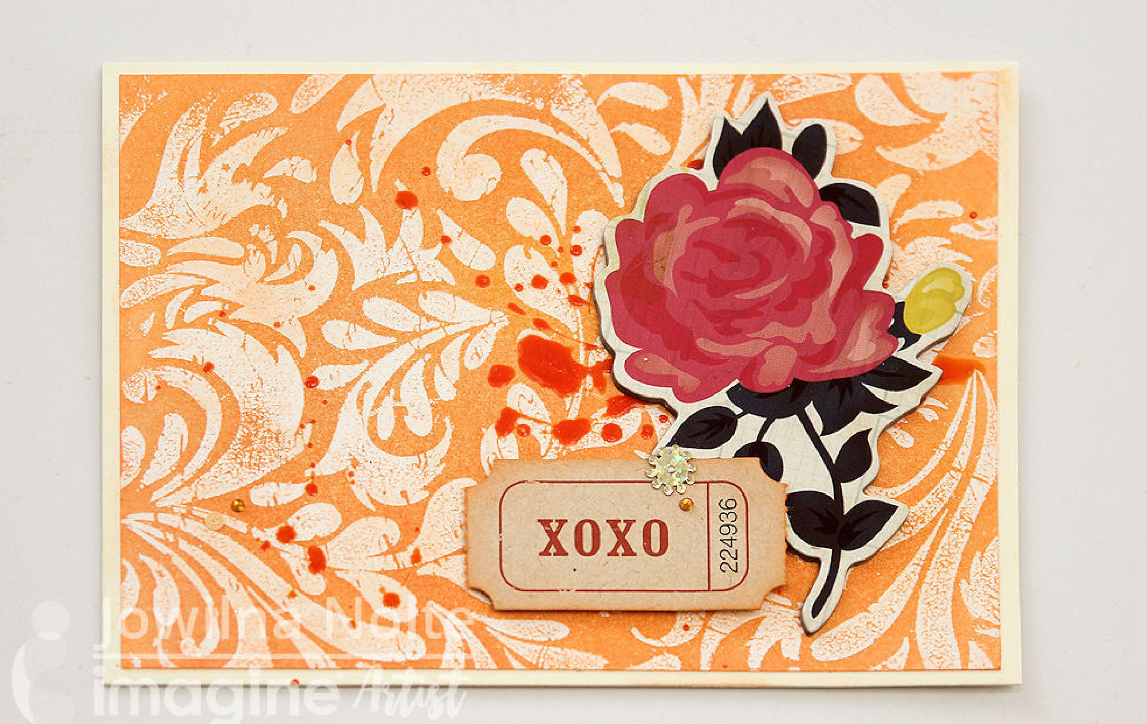Create A Tangerine Rose Card