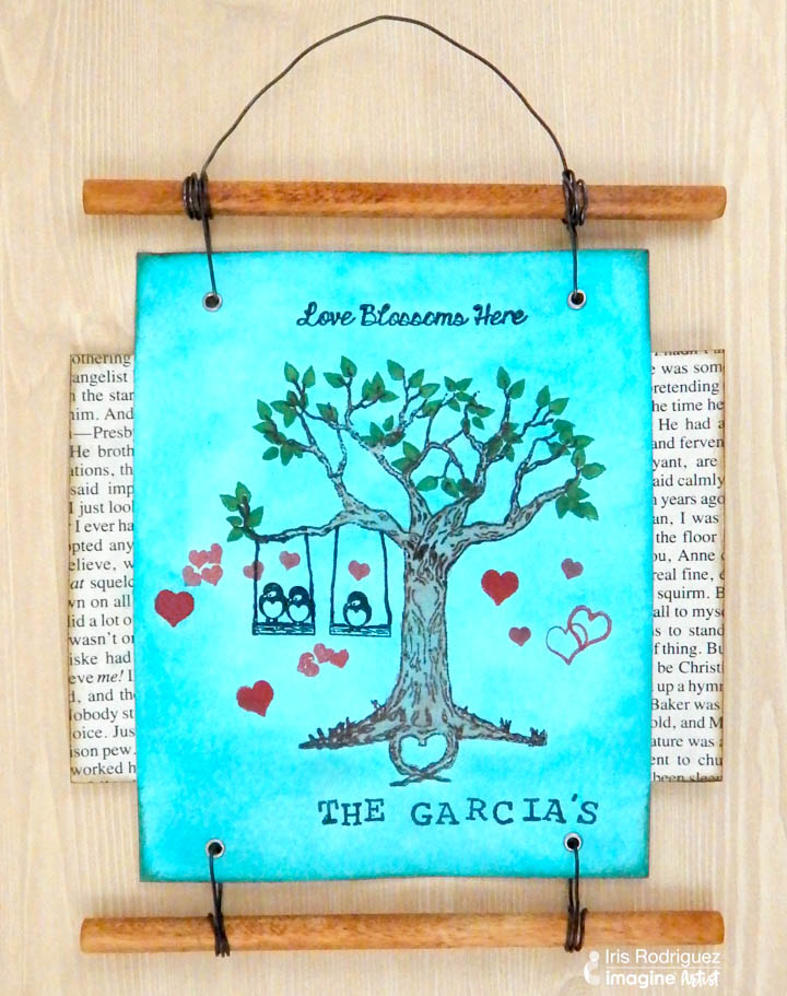 See How to Create a Family Tree Wall Hanging with Joy Clair Stamps