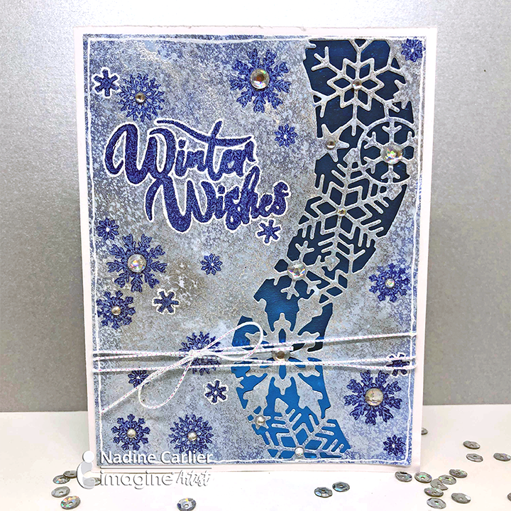 Delicata for a Shimmery Winter Background with Die cut