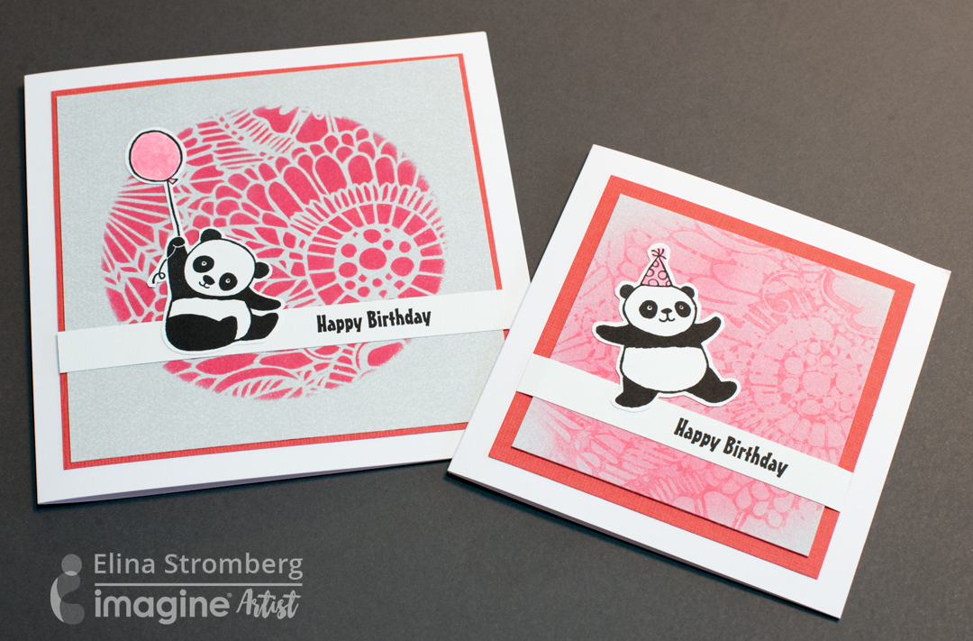 cute panda birthday cards