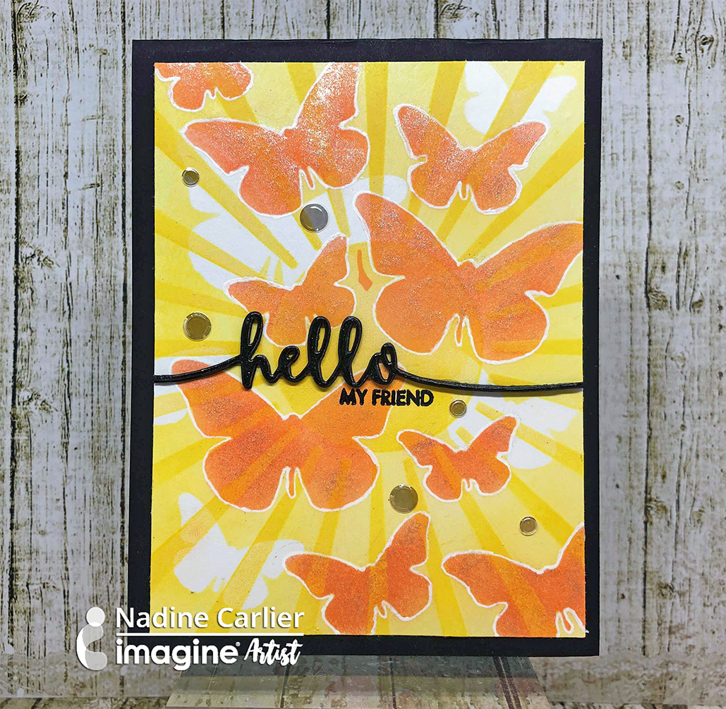 Handmade yellow and orange butterfly themed