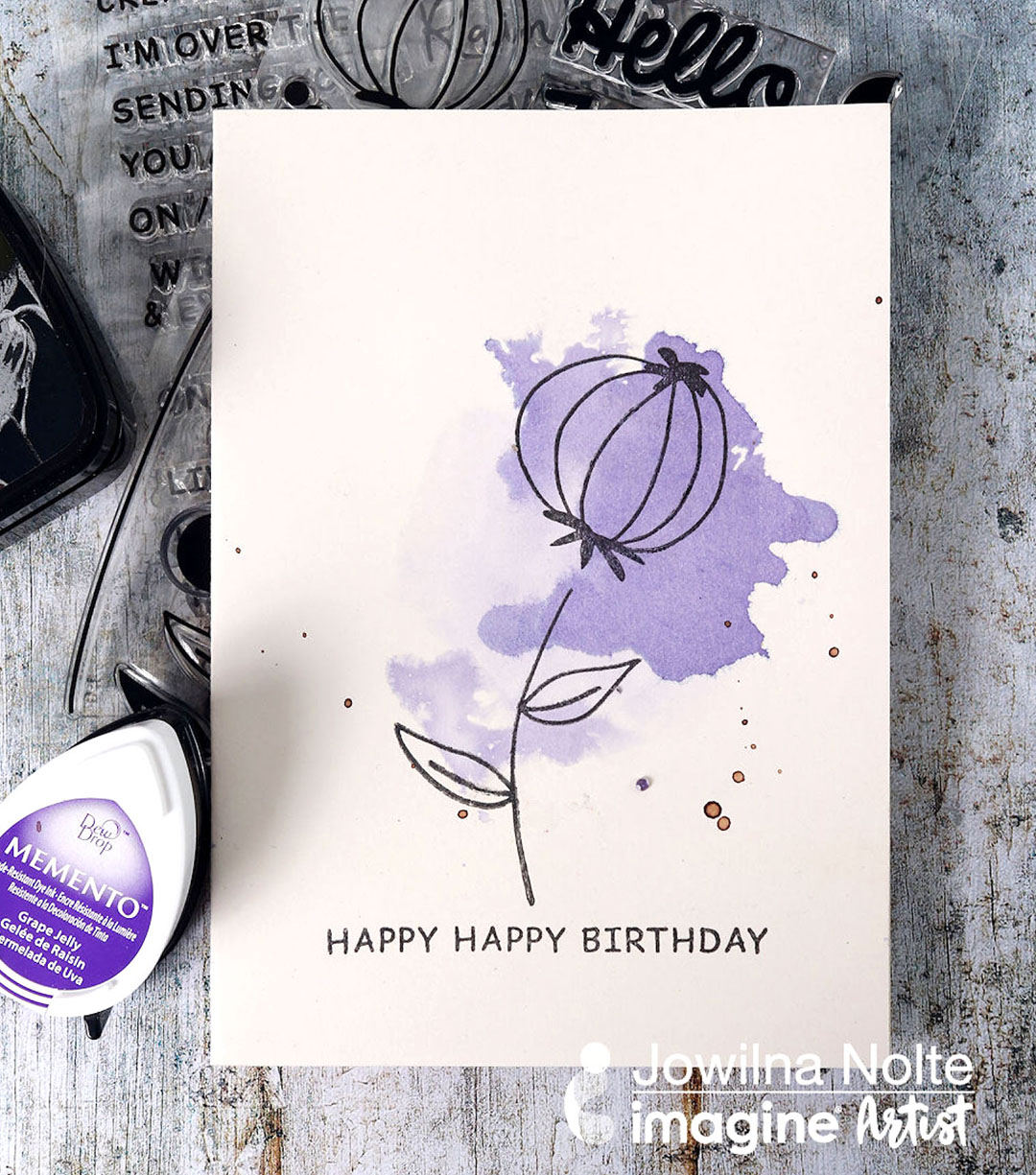 Learn how to Make a Quick and Easy Watercolor Style Card