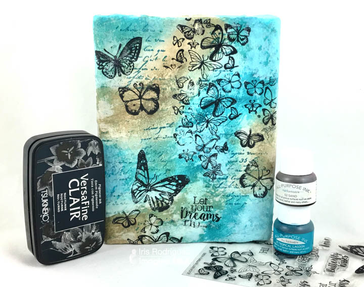 Upcycle a Wood Block Using Plaster and Tsukineko Inks