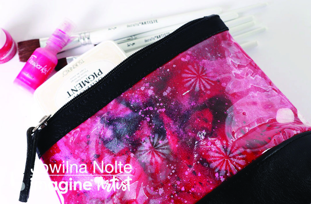 Make Up Bag Colored with All-Purpose Ink and StazOn Pigment