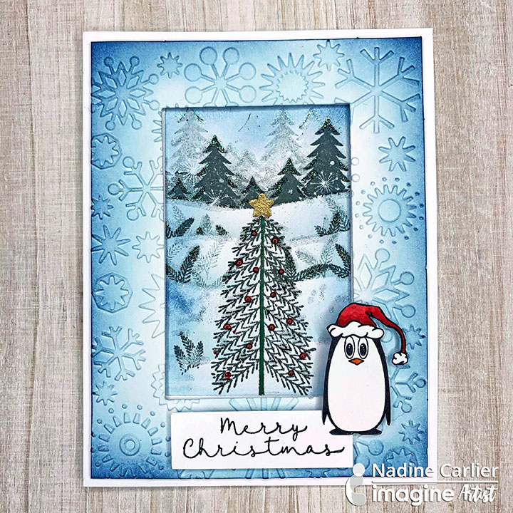 Watch my video tutorial below to see how I used Memento Inks and a mask to create a wintery Christmas scene. Enjoy!