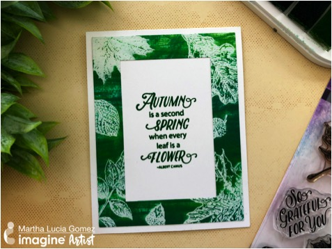 Emboss Resist Card Using Kaleidacolor in Fresh Greens