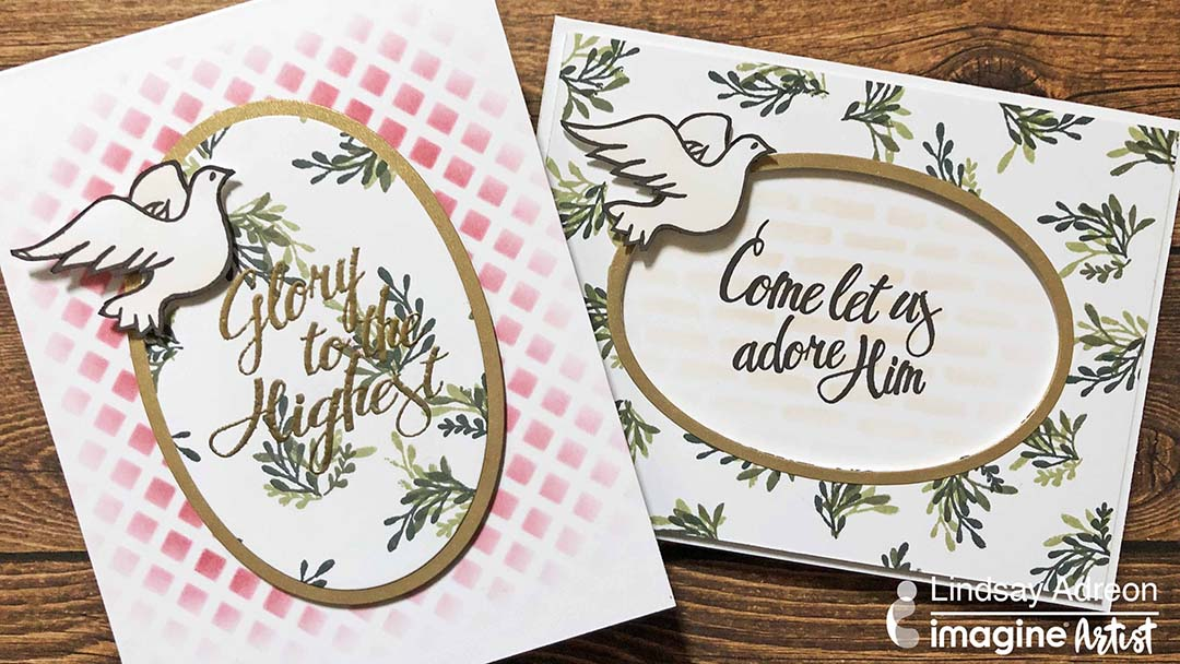 Come Let Us Adore Him Christmas Card with Memento Ink