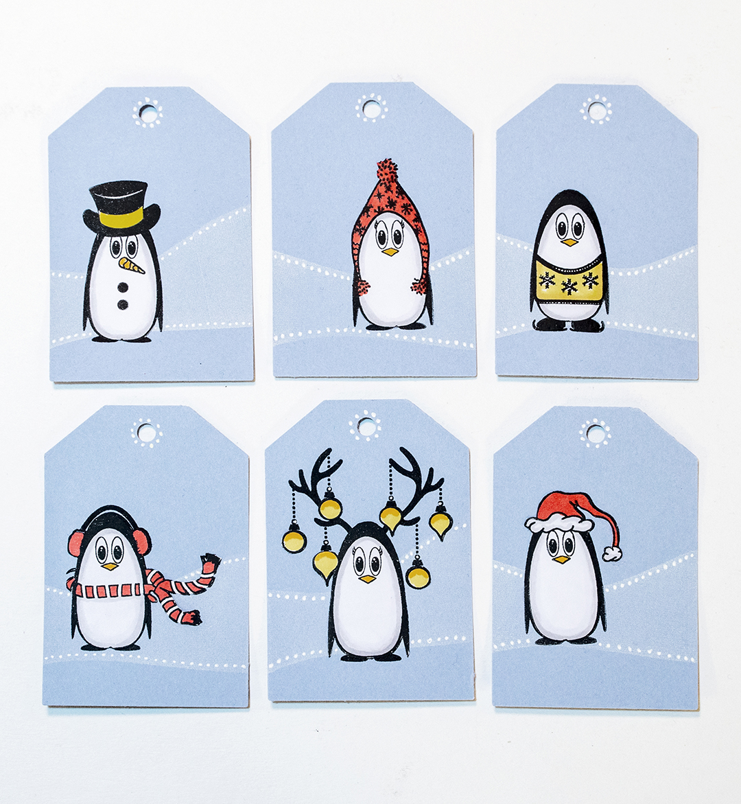 Use StazOn Pigment in Snowflake to Create Christmas Gift Tags