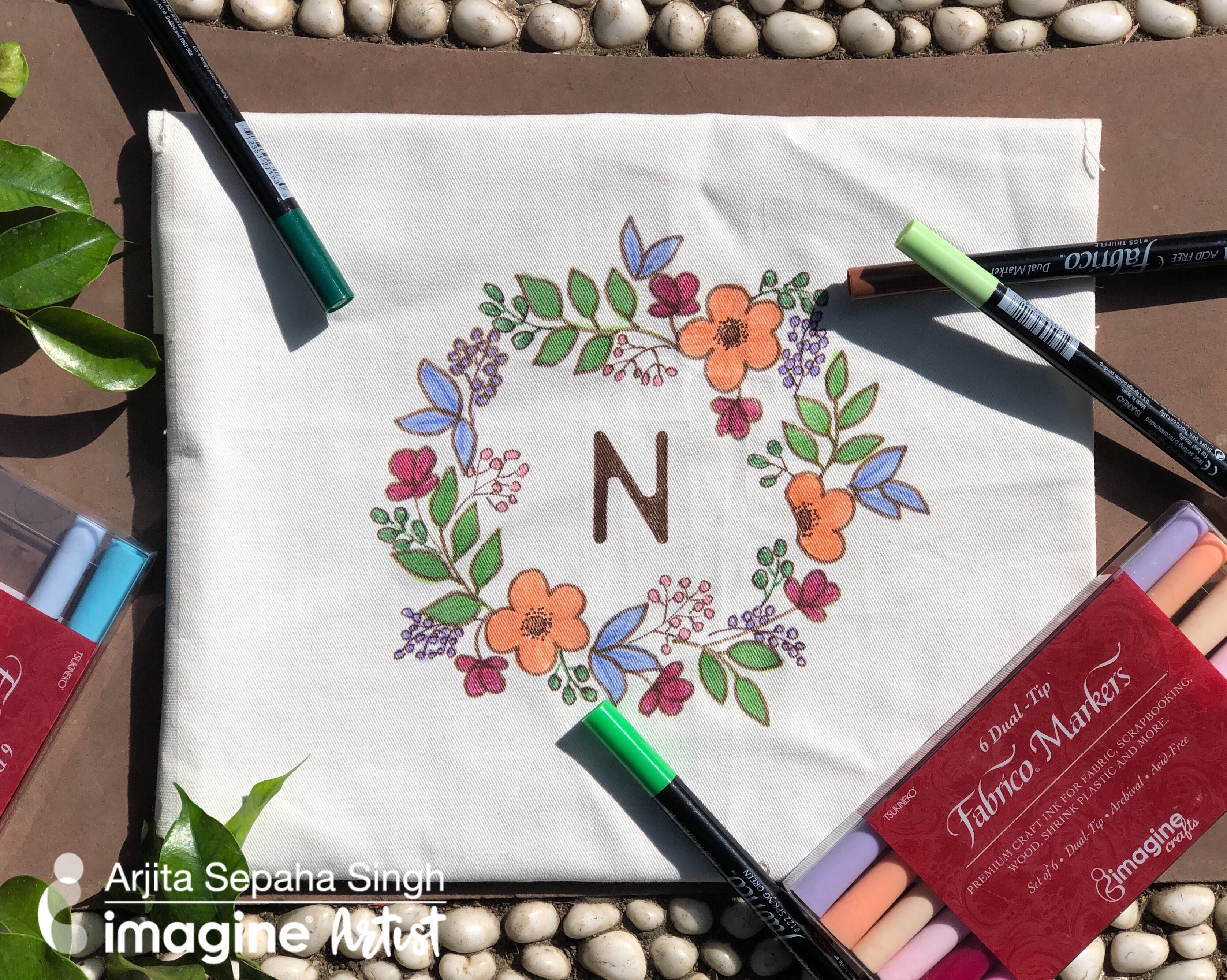 Learn how to Draw on Fabric with Fabrico Markers