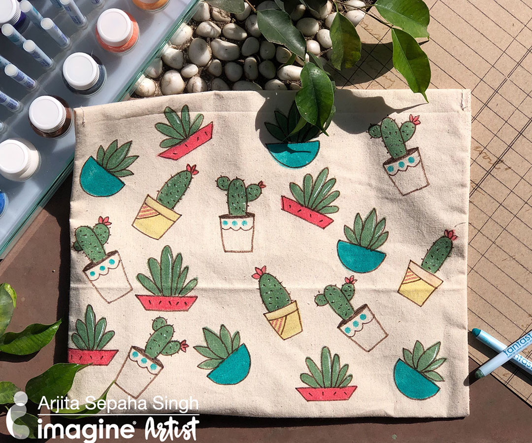 Create a Cute Cactus Project with All-Purpose Inks and Fantastix