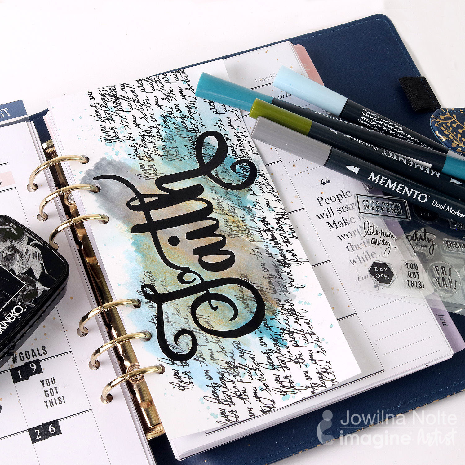 Creating a Colorful 2020 Planner Page with Memento Markers
