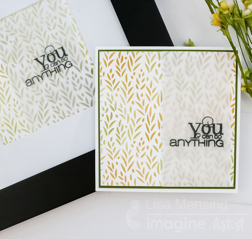 Create a matching card and home decor frame - you can do anything