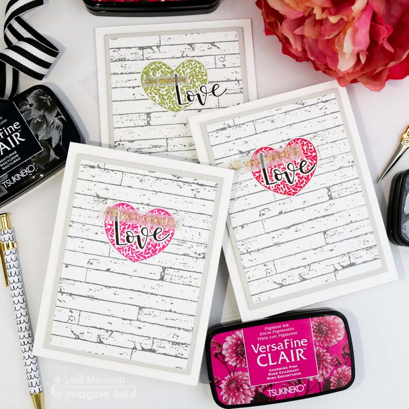Make a Set of Farmhouse Valentine's Day Cards with VersaFine Clair